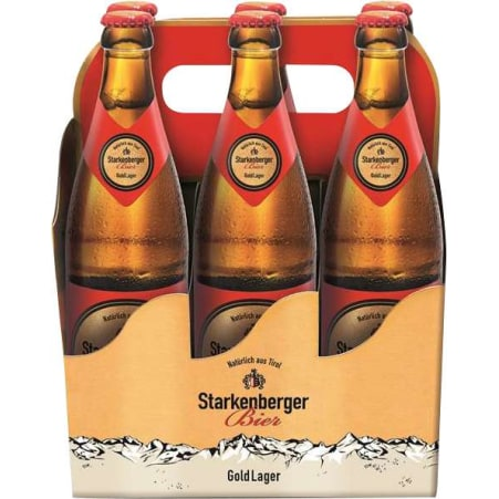Starkenberger Bier Gold Lager Tray 6x 0,5 Liter Mehrweg-Flasche