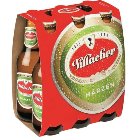 Villacher Märzen Tray 6x 0,33 Liter Einweg-Flasche