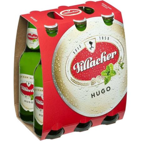 Villacher Hugo Tray 6x 0,33 Liter Einweg-Flasche