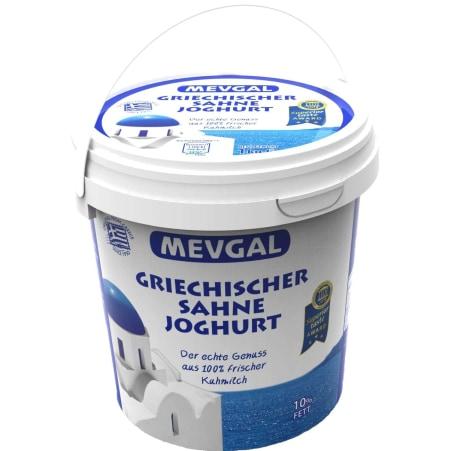 Mevgal Griechischer Sahne Joghurt 10% 1,0 kg