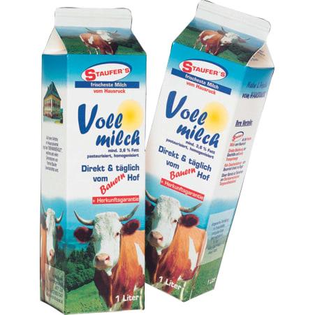Staufer's Milchprodukte Vollmilch 3,6%