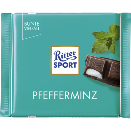 RITTER SPORT Schokolade Bunte Vielfalt Pfefferminz
