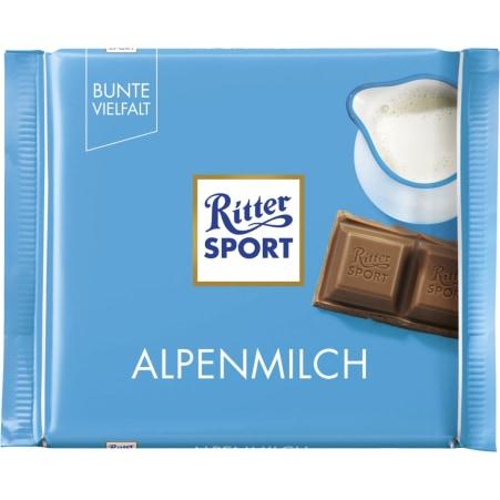 RITTER SPORT Schokolade Bunte Vielfalt Alpenmilch