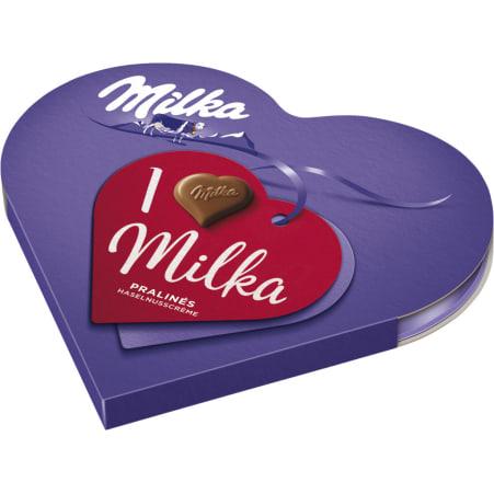 MILKA I love Milka Miniherzen Haselnuss