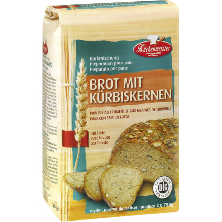 Küchenmeister Kürbiskern-Brotbackmischung