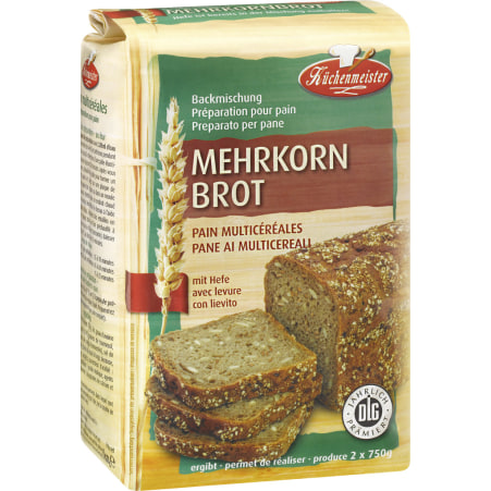 Küchenmeister Mehrkorn-Brotbackmischung
