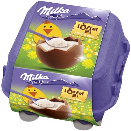 MILKA Löffel Ei Milchcreme 4 Stück