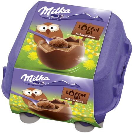 MILKA Löffel Ei Kakaocreme 4er