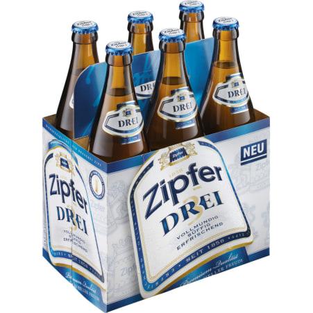 ZIPFER BIER Drei Tray 6x 0,5 Liter Mehrweg-Flasche