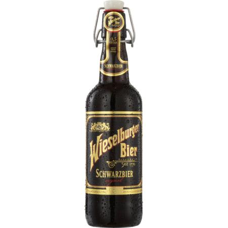 WIESELBURGER BIER Schwarzbier 0,5 Liter Mehrweg-Flasche