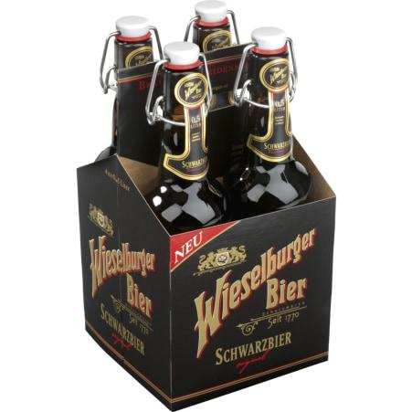 WIESELBURGER BIER Schwarzbier Tray 4x 0,5 Liter Mehrweg-Flasche