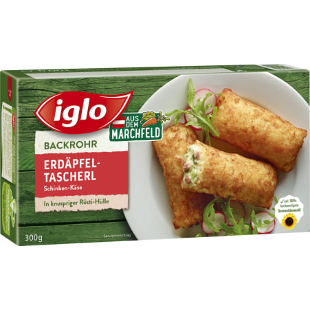Iglo Backrohr Erdäpfeltascherl Schinken-Käse