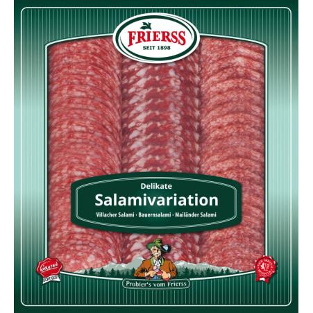Frierss Salamivariation geschnitten