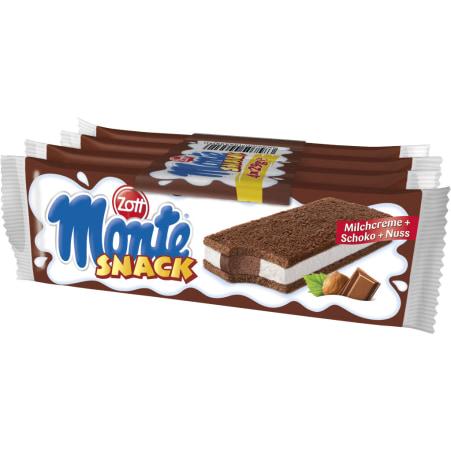Zott Monte Monte Snack Milchcreme-Schoko-Nuss 4er-Packung