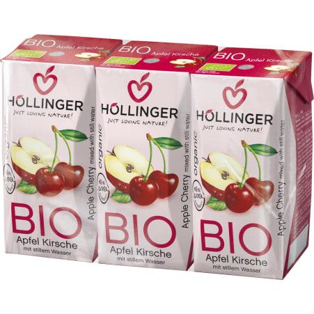 Höllinger Bio Apfelsaft Kirsche 3x 0,2 Liter