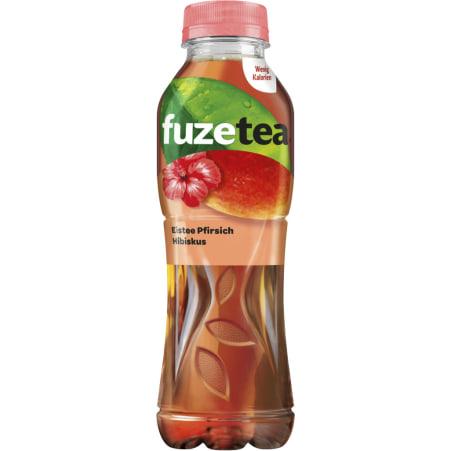 fuzetea Eistee Pfirsich-Hibiskus 0,5 Liter