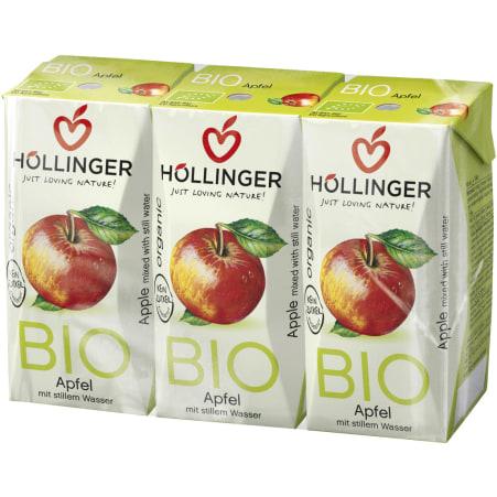 Höllinger Bio Apfelsaft naturtrüb 3x 0,2 Liter