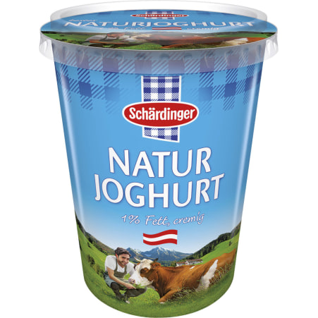Schärdinger Naturjoghurt cremig 1%