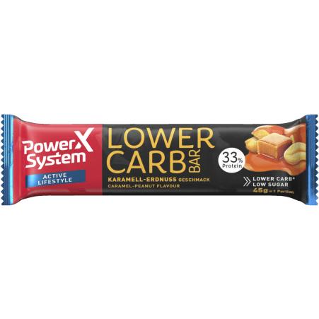 Power System Lower Carb Protein Bar Karamell-Erdnuss