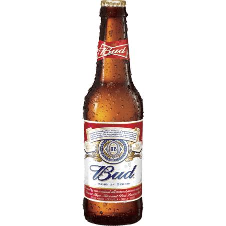Budweiser Bier 0,33 Liter Einweg-Flasche