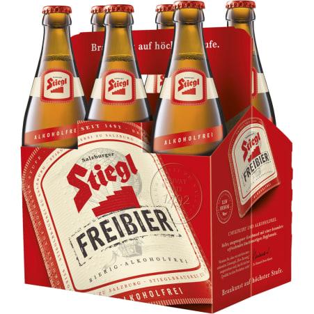 Stiegl Freibier alkoholfrei Tray 6x 0,5 Liter Mehrweg-Flasche