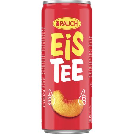 Rauch Eistee Pfirsich 0,33 Liter Dose