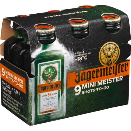 Jägermeister Kräuterlikör 35% 9x 0,02 Liter