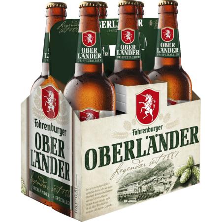 Fohrenburger Oberländer Tray 6x 0,5 Liter Mehrweg-Flasche