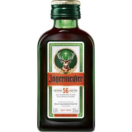 Jägermeister Kräuterlikör 35% 0,04 Liter