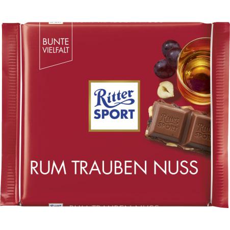 RITTER SPORT Schokolade Bunte Vielfalt Rum-Trauben-Nuss