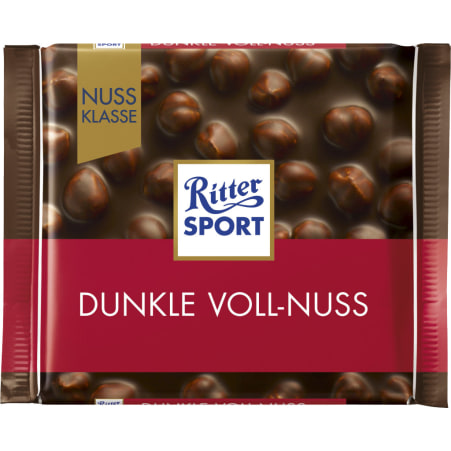 RITTER SPORT Schokolade Nussklasse Dunkle Vollnuss