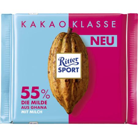 RITTER SPORT Schokolade Kakaoklasse 55% Die Milde