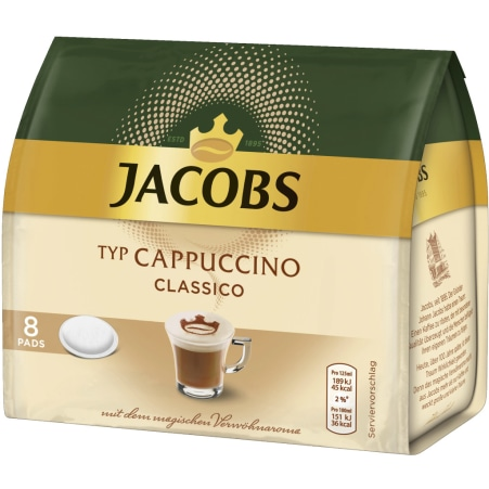 JACOBS Cappuccino 8 Pads