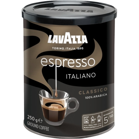 Lavazza Caffee Espresso gemahlen