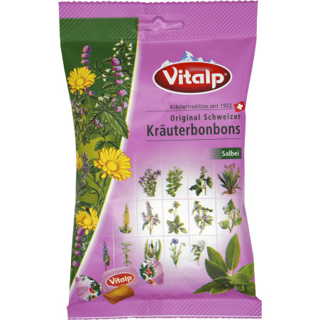 Vitalp Schweizer Kräuterbonbons Salbei