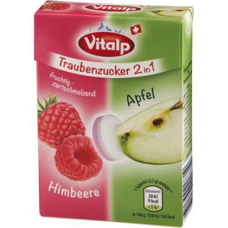 VITALP Traubenzucker 2 in 1 Himbeere Apfel