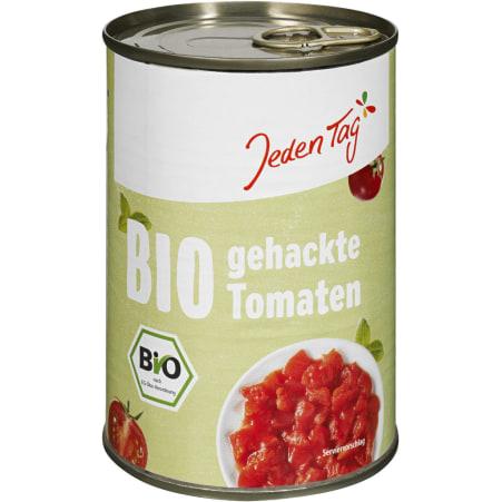 Jeden Tag Bio gehackte Tomaten