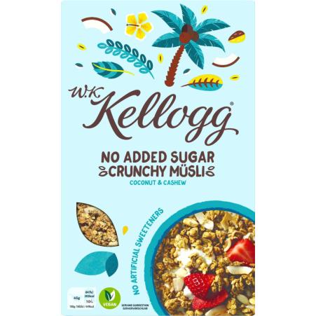 Kellogg's Crunchy Müsli Coconut-Cashew ohne Zucker