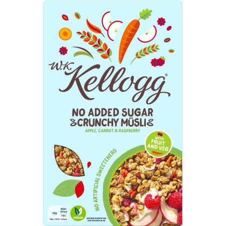 Kellogg's Crunchy Müsli Apfel-Karotte-Himbeere ohne Zucker