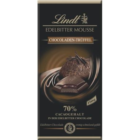 Lindt&Sprüngli Schokolade Edelbitter Mousse Pur Trüffel
