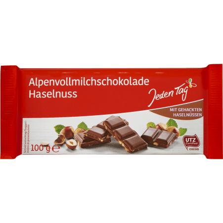 Jeden Tag Schokolade Alpenvollmilch-Haselnuss
