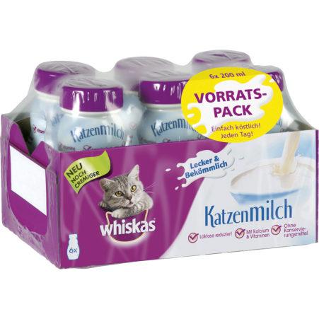 WHISKAS Katzenmilch 6er-Packung