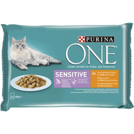 PURINA One Sensitive Huhn 4x 85 gr
