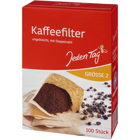 Jeden Tag Kaffeefilter Gr. 2 100er-Packung