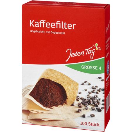 Jeden Tag Kaffeefilter Gr. 4 100er-Packung