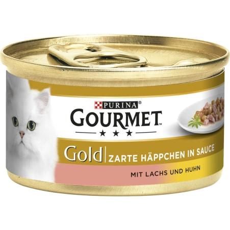 PURINA Gourmet Gold Zarte Häppchen Lachs & Huhn