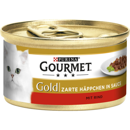 PURINA Gourmet Gold Zarte Häppchen Rind