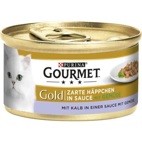 PURINA Gourmet Gold Zarte Häppchen Kalb & Gemüse
