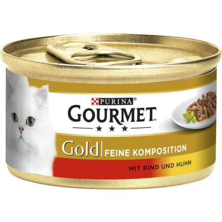 PURINA Gourmet Gold Feine Komposition Rind & Huhn
