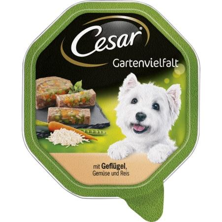 CESAR Gartenvielfalt Geflügel-Gemüse-Reis